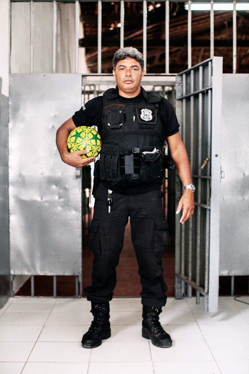 A guard from the Geraldo Beltrão maximum security Penitentiary