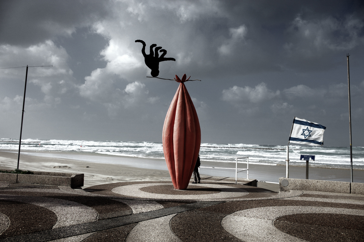 A Sculpture On The Beach, Not Far From The Clinic